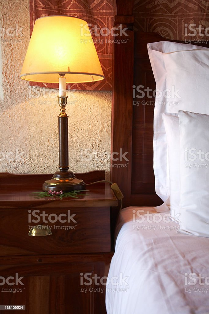 African bedroom royalty-free stock photo