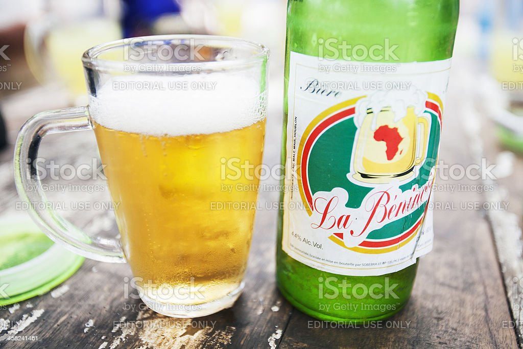 African beer. royalty-free stock photo