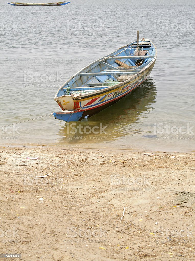 African boat royalty-free stock photo