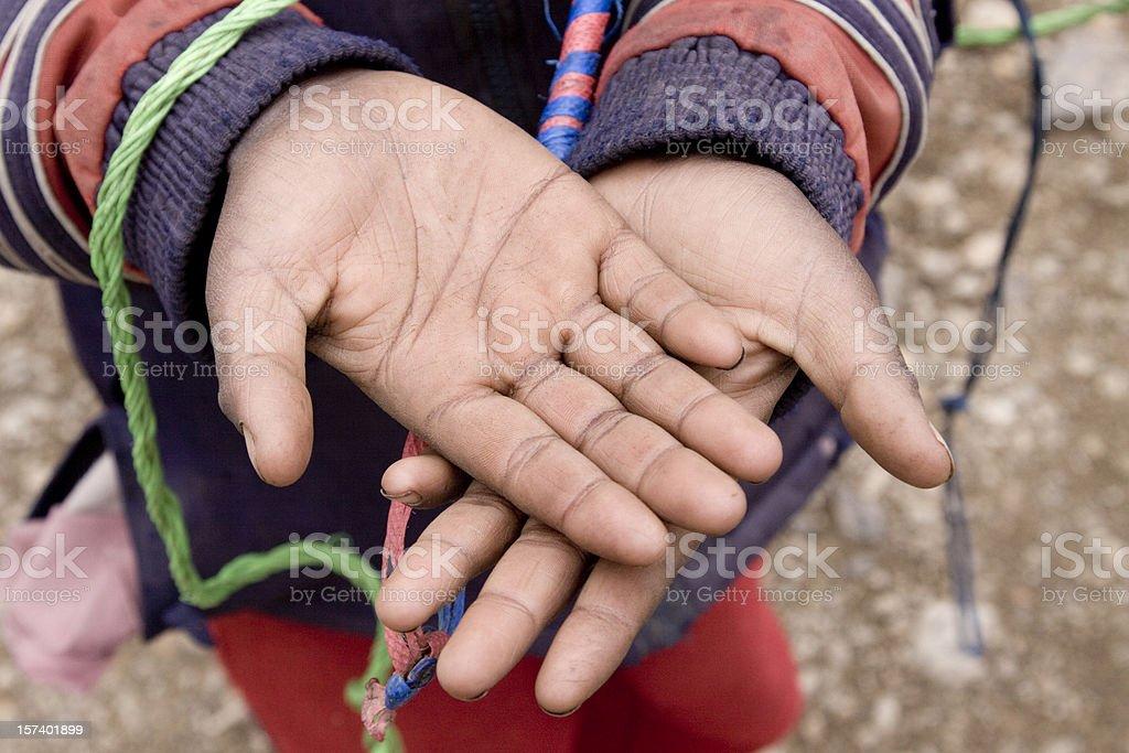 African boy begging stock photo