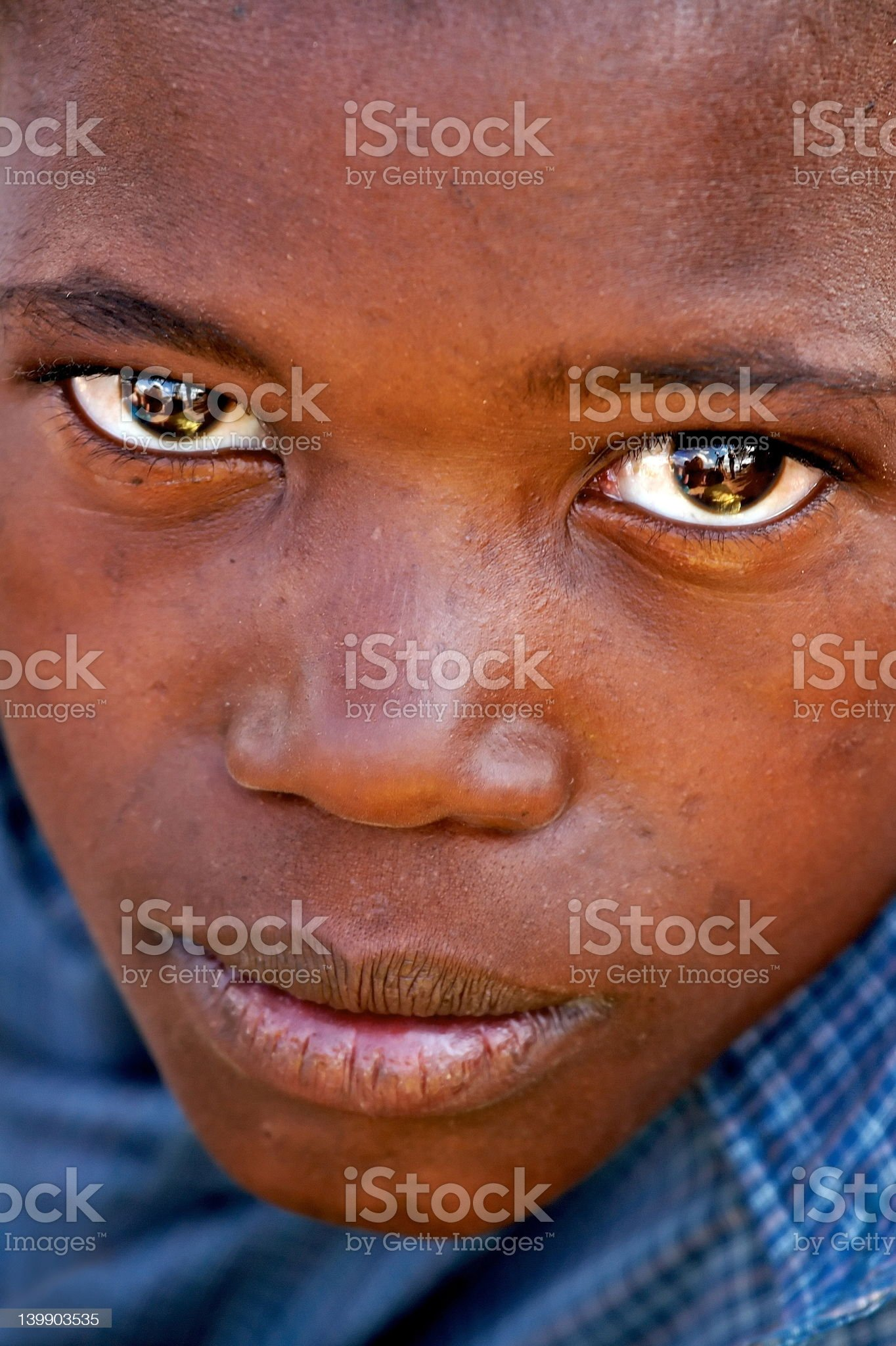 African boy (colour) royalty-free stock photo
