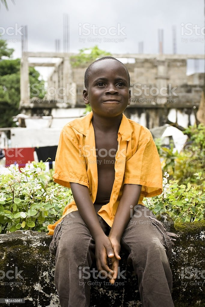 African Boy royalty-free stock photo