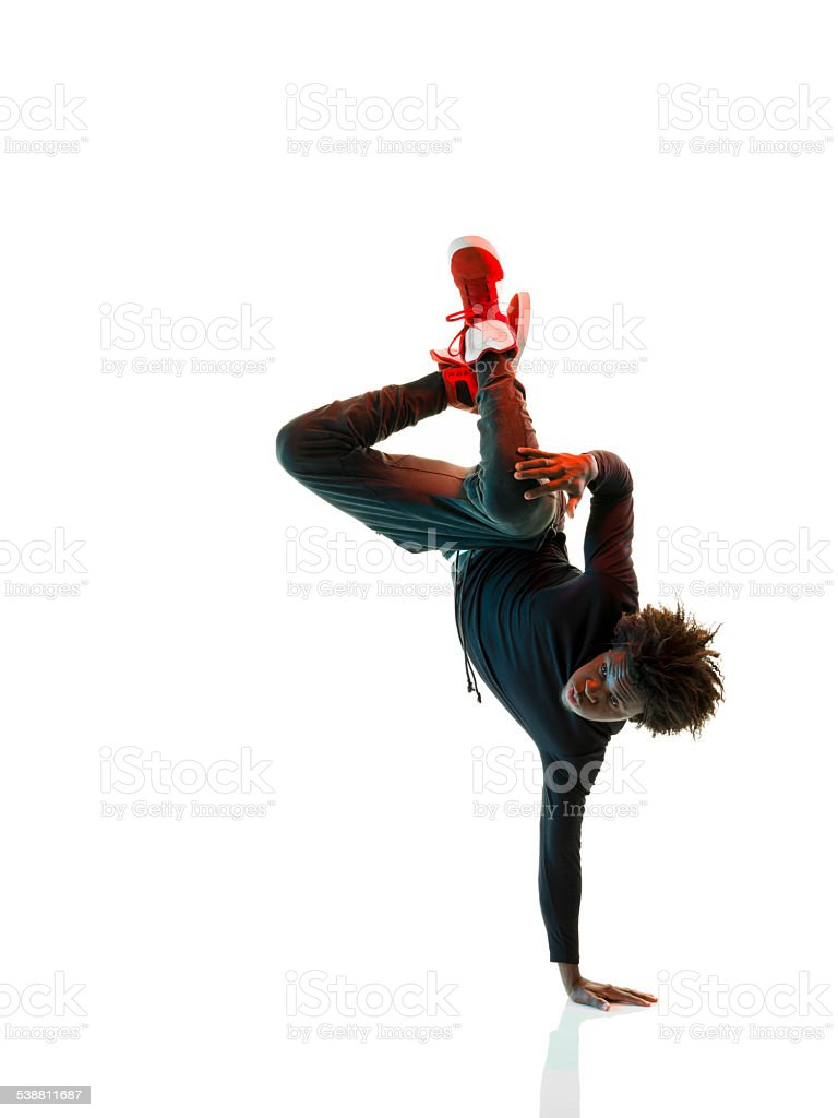 African Breakdancer stock photo