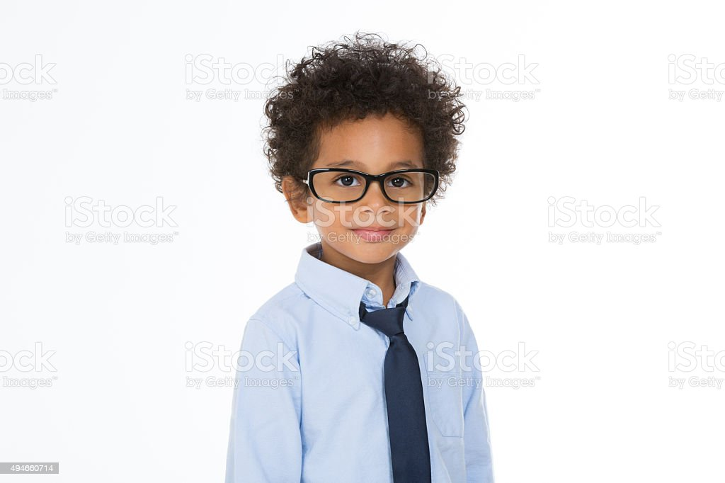 african business child looking at the camera stock photo