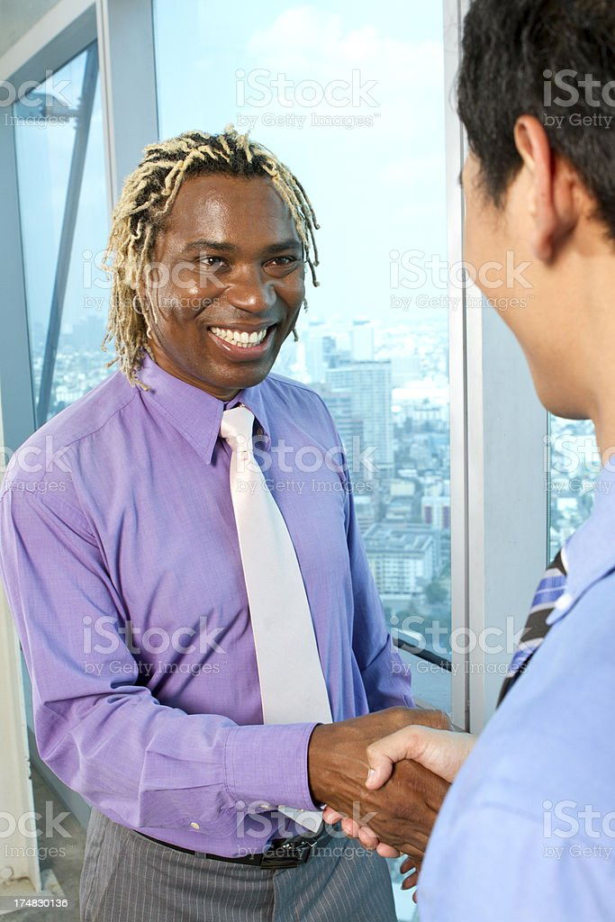 African business man shaking hand royalty-free stock photo