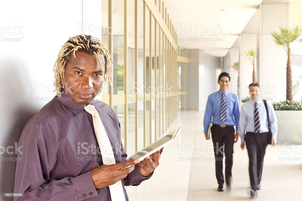 African business man with dreadlocks royalty-free stock photo