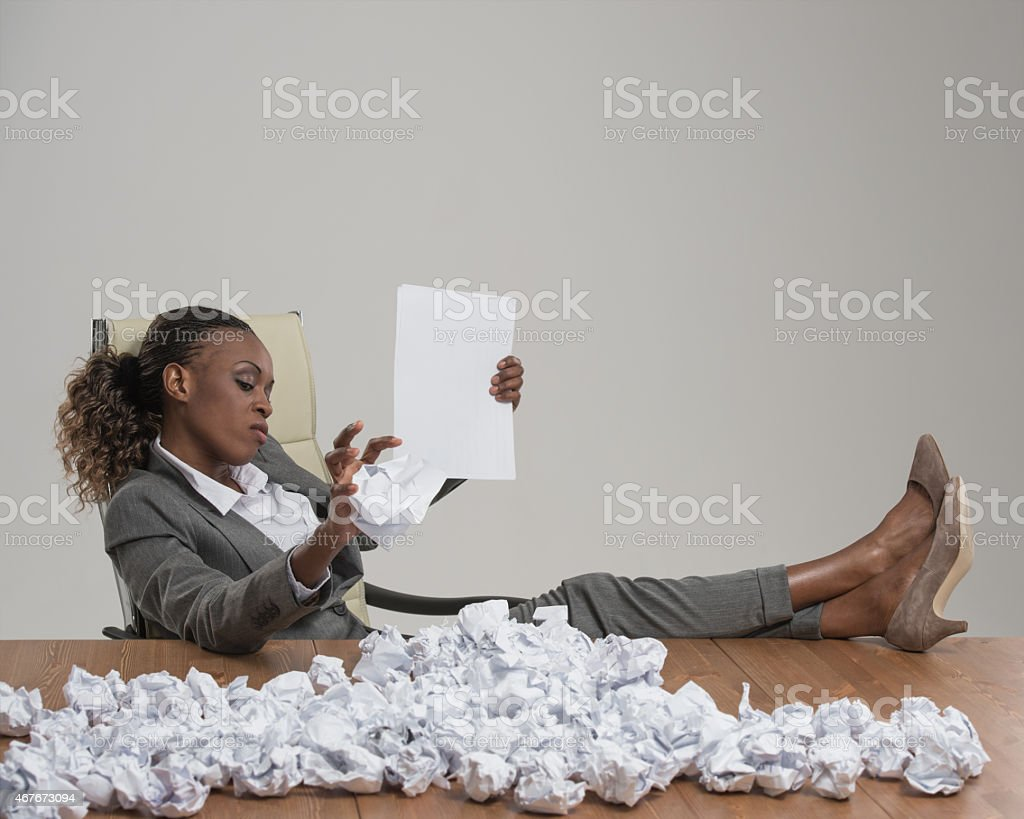 African business woman looking for workers stock photo
