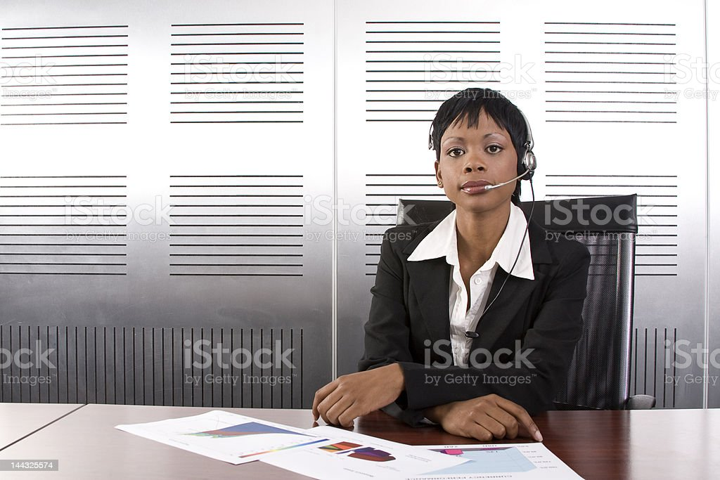 African Business Woman royalty-free stock photo