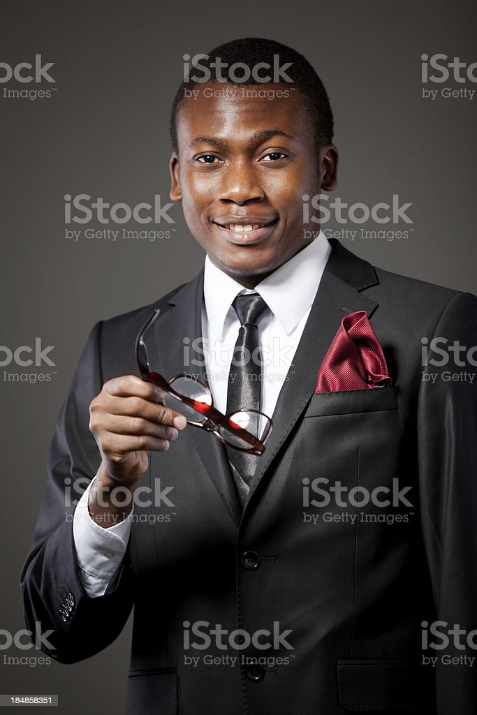 African businessman royalty-free stock photo