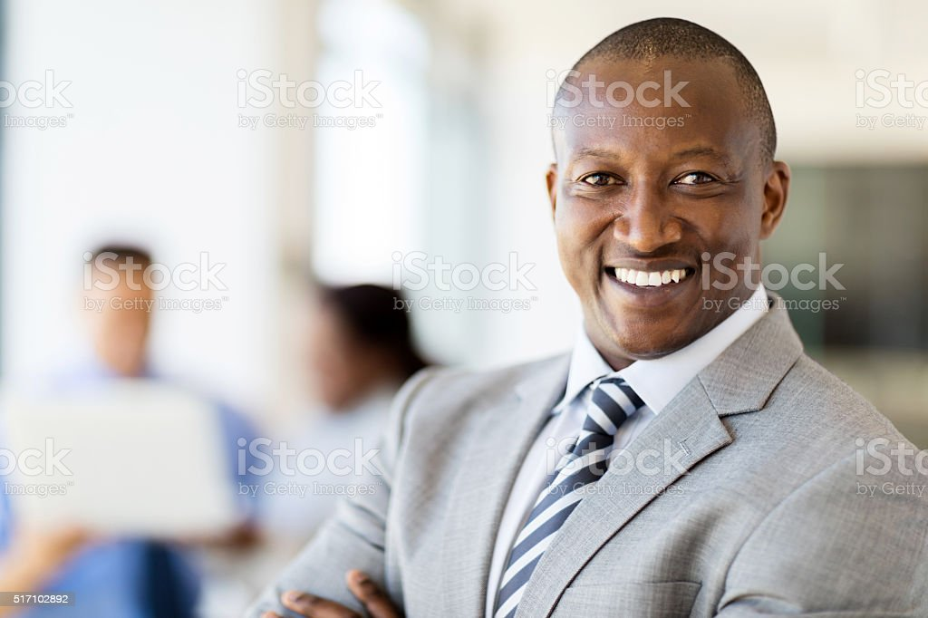 african businessman portrait stock photo