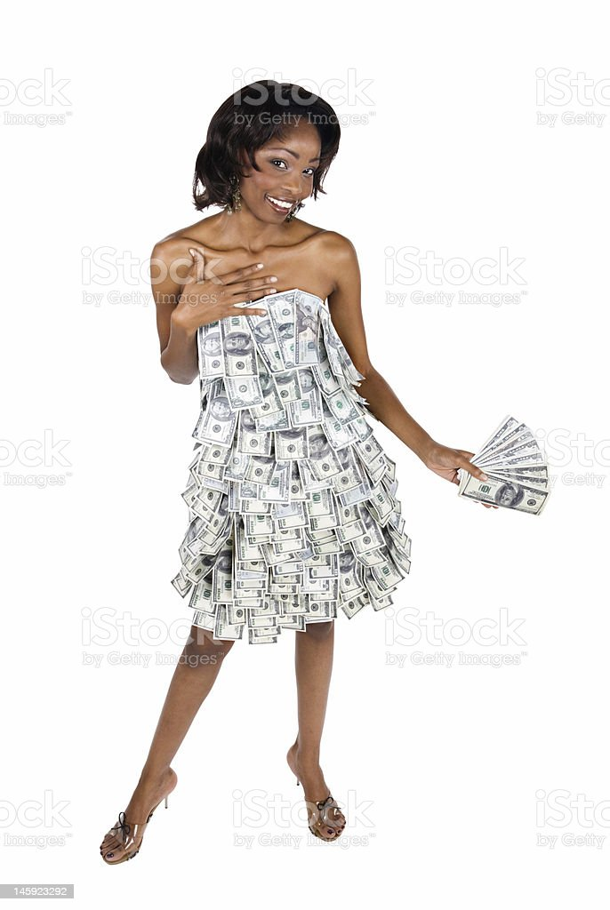 African businesswoman royalty-free stock photo