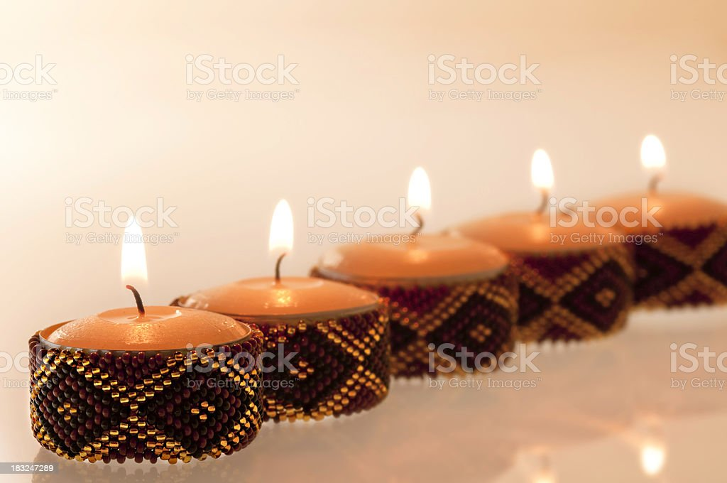 African Candles royalty-free stock photo