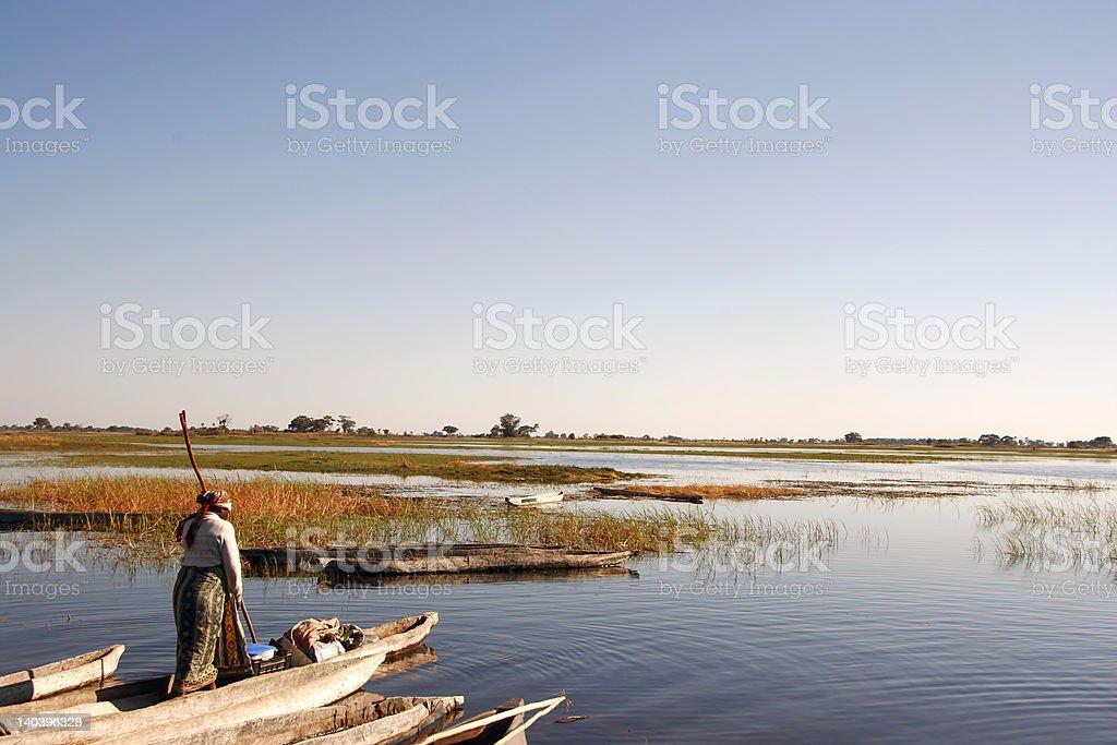 African Canoe royalty-free stock photo
