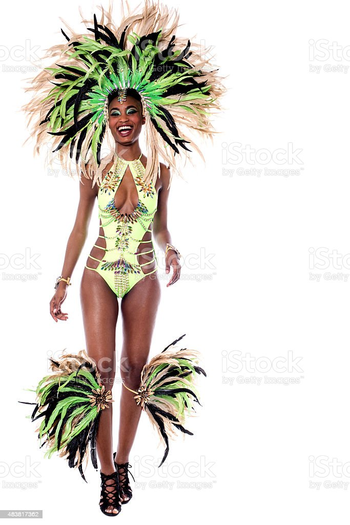 African carnival over white stock photo
