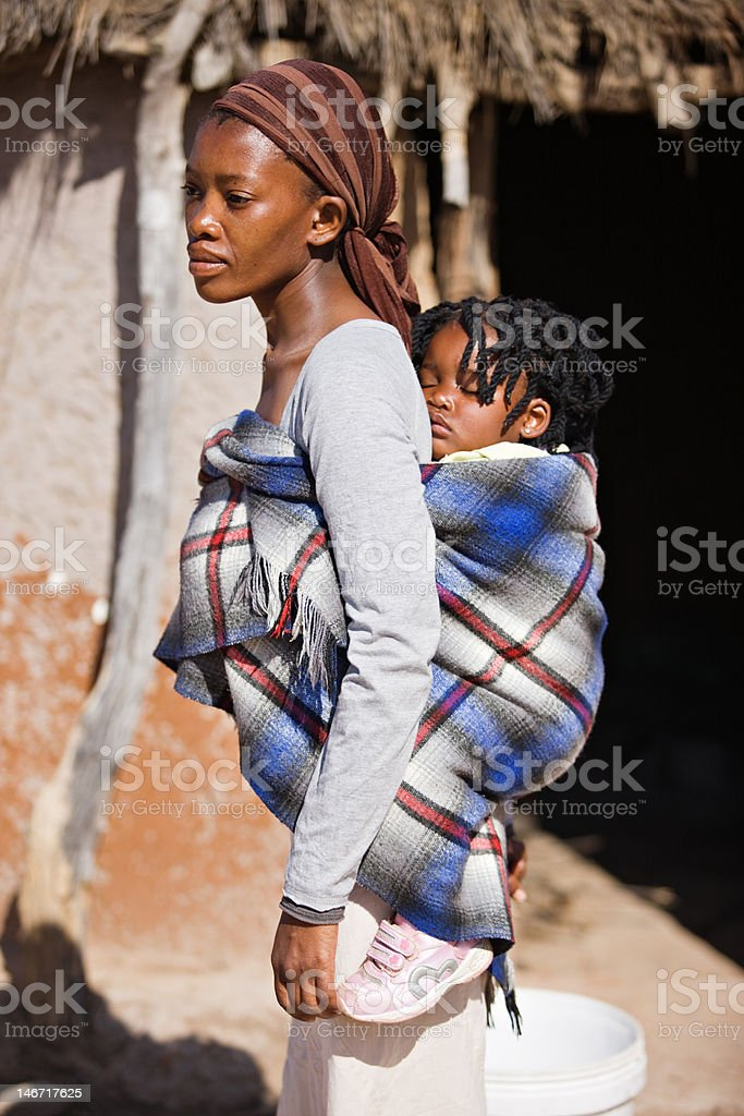African carry child royalty-free stock photo