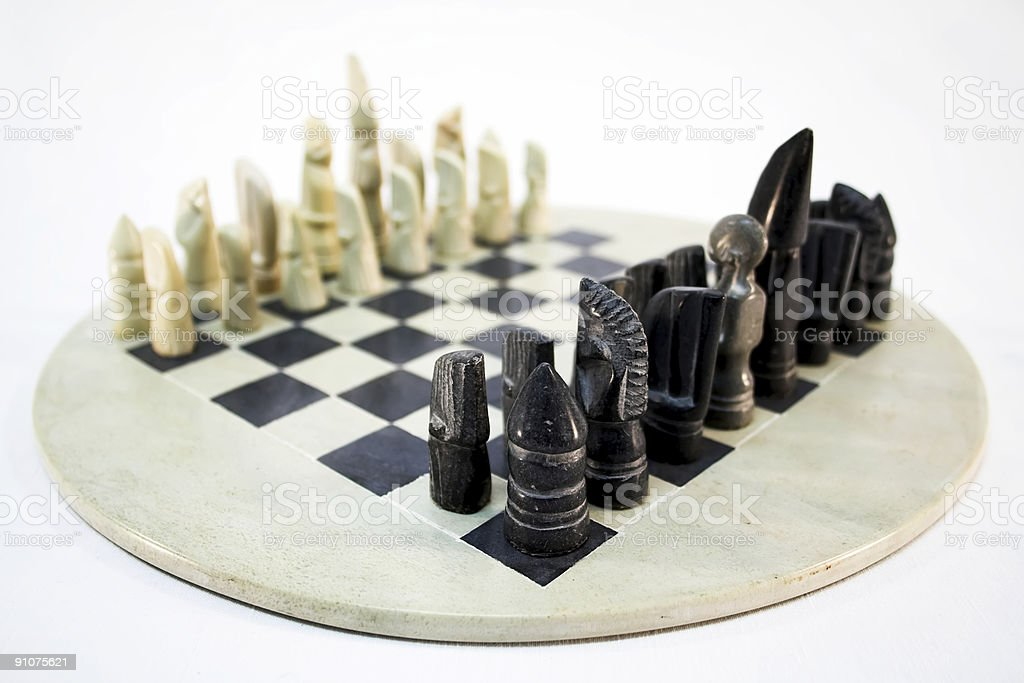 African Chess Game stock photo