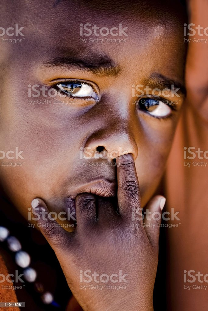 African child portrait royalty-free stock photo