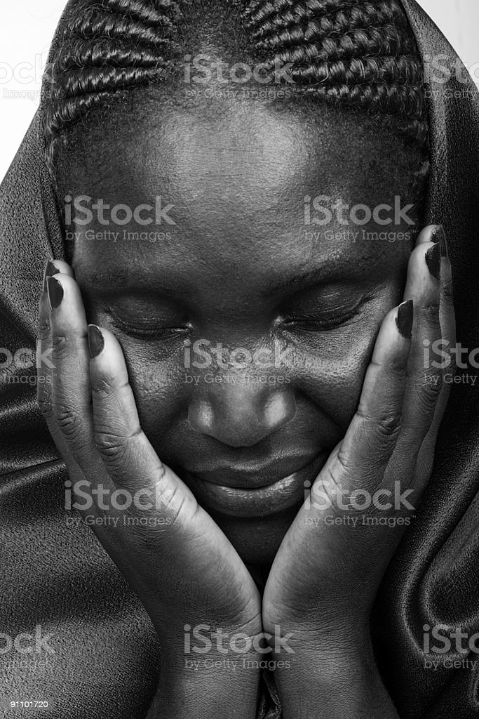 African Christian woman royalty-free stock photo