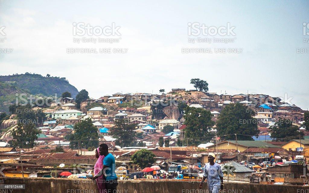 African city. Abuja, Nigeria. stock photo