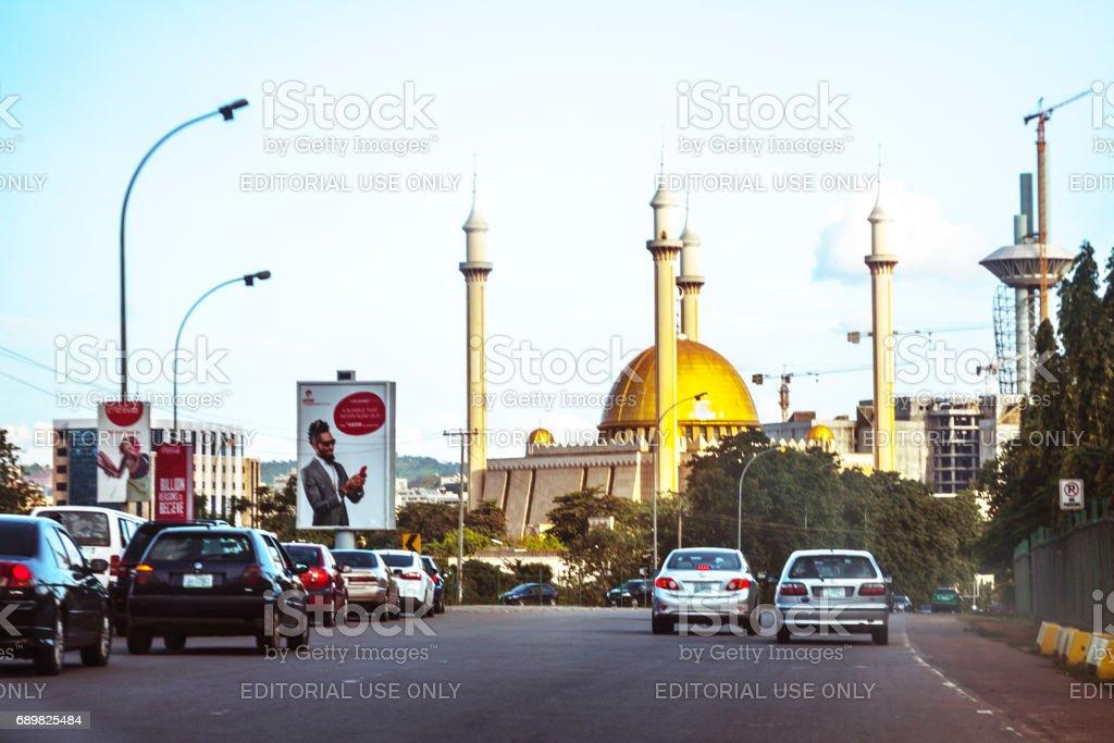 African city - Abuja, Nigeria stock photo