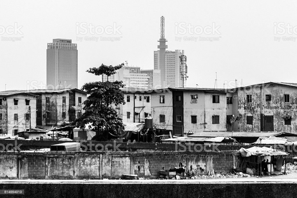 African city - Lagos, Nigeria. stock photo