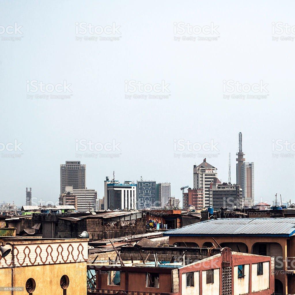 African city - Lagos, Nigeria. stock photo