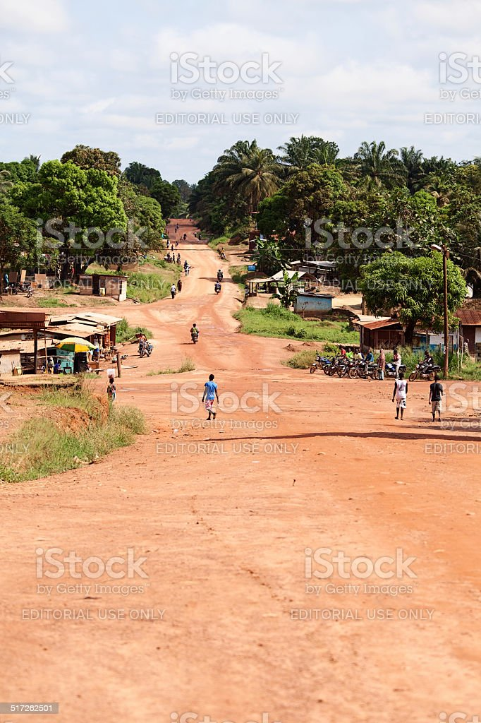 African city street stock photo