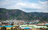 African city suburbs, Abuja, Nigeria.
