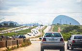 African city traffic. Abuja, Nigeria.
