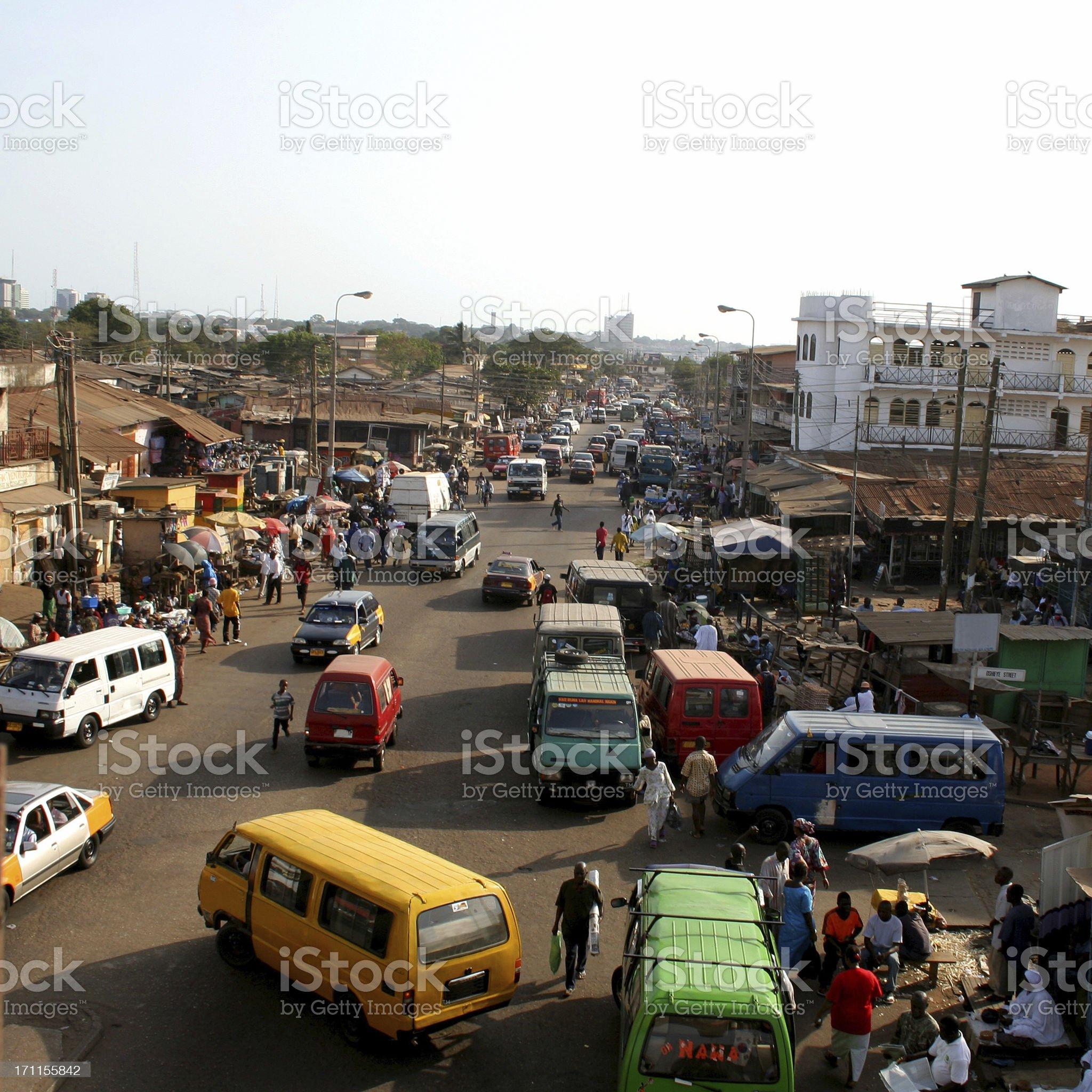 African city traffic. royalty-free stock photo