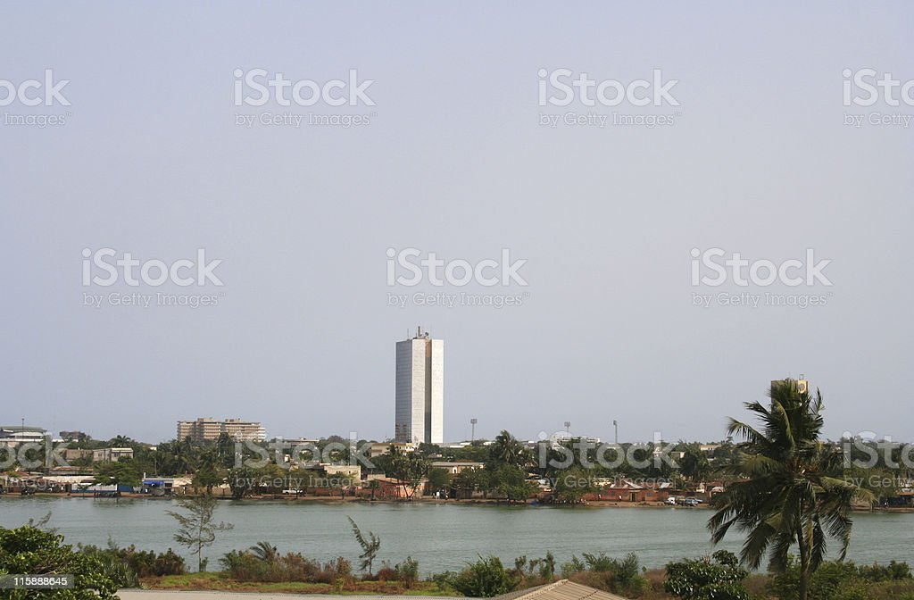 african city view stock photo