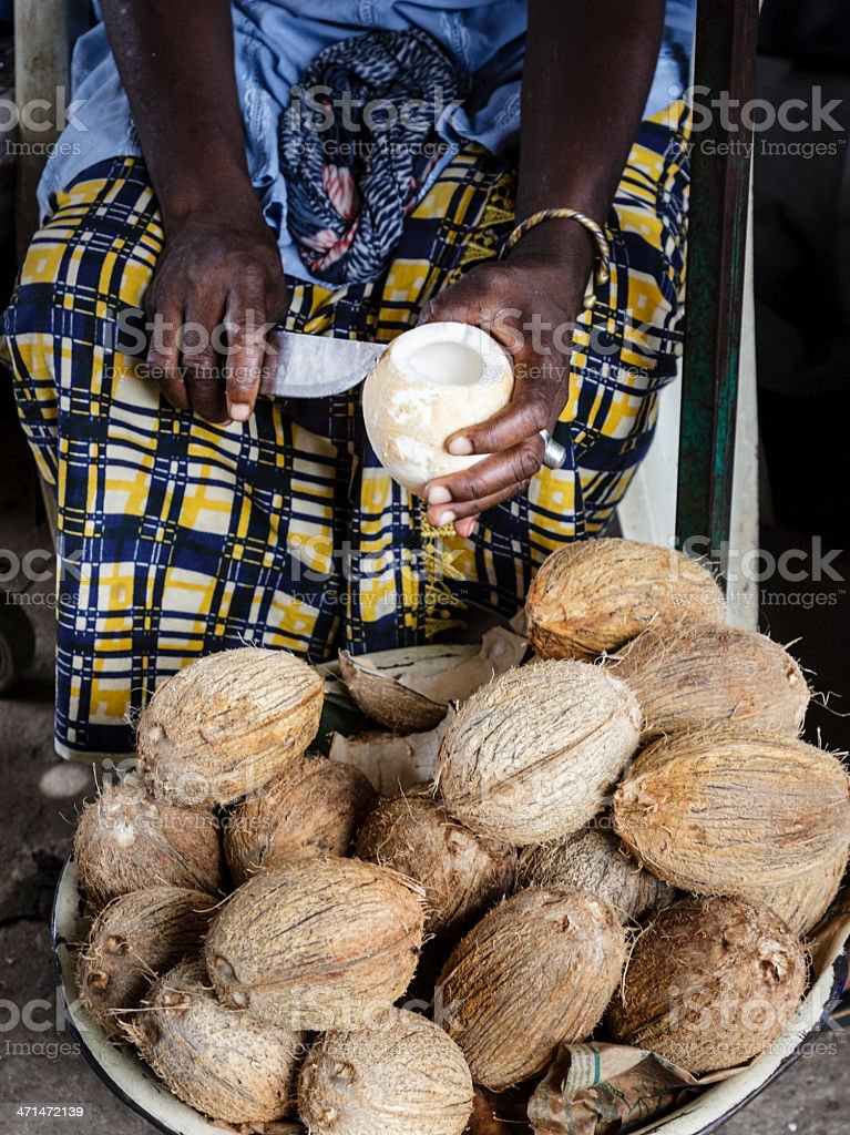 African coconut royalty-free stock photo