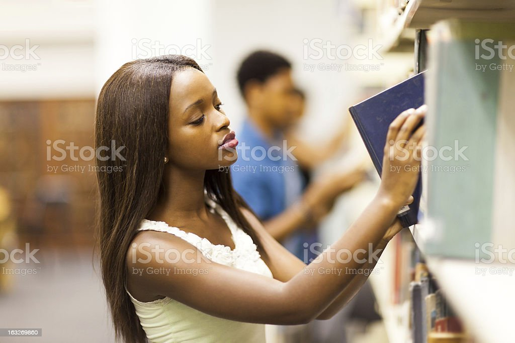 african college students in library royalty-free stock photo