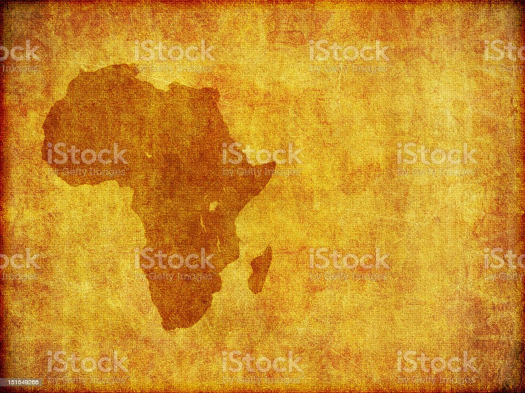 African Continent Grunge Background With Room For Text vector art illustration