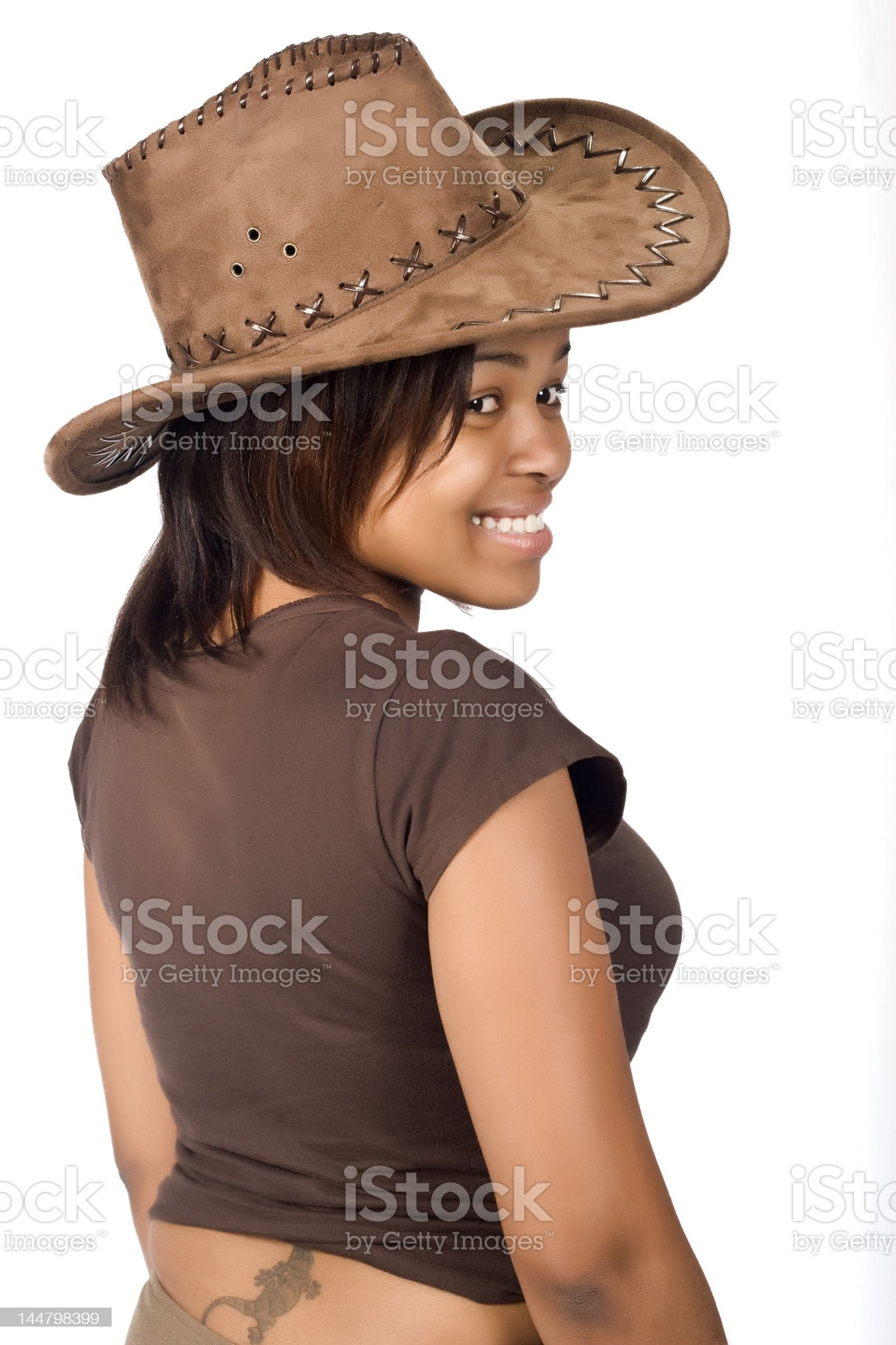 African cowgirl royalty-free stock photo