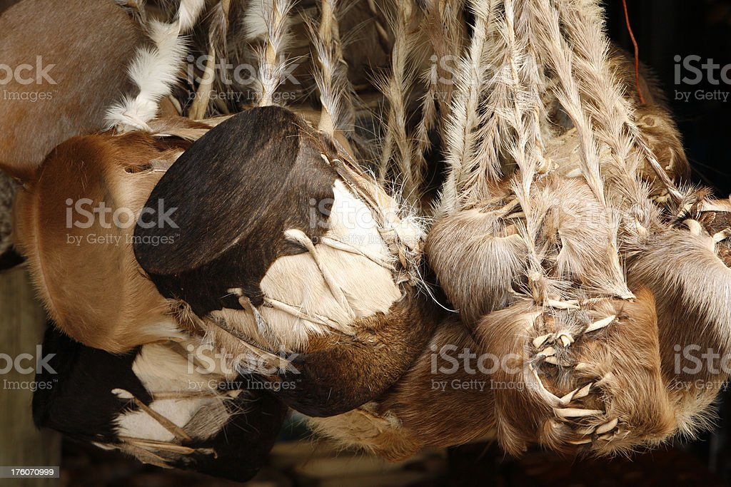 African cowhide drums stock photo