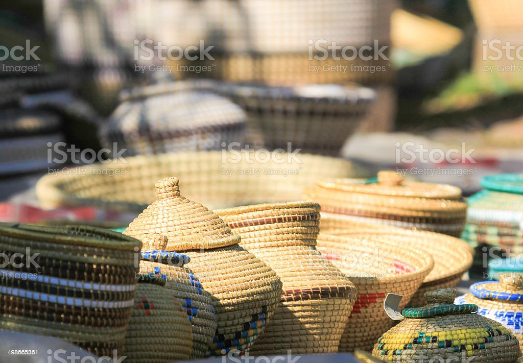 African Curios in KwaZulu-Natal, South Africa stock photo