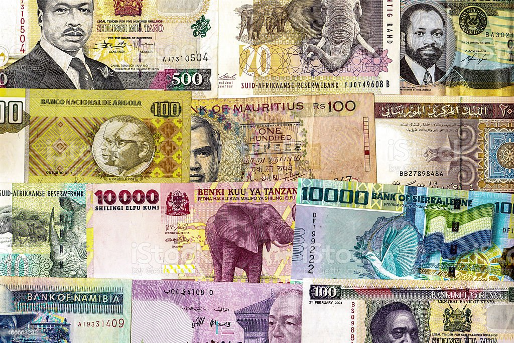 African Currency stock photo