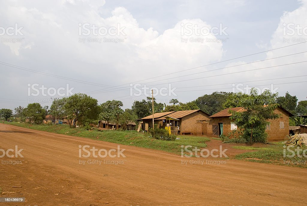 African dirt road stock photo