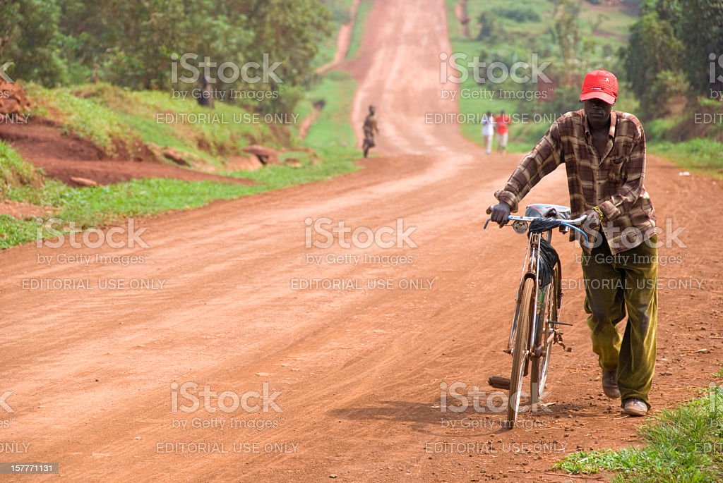 African Dirtroad stock photo