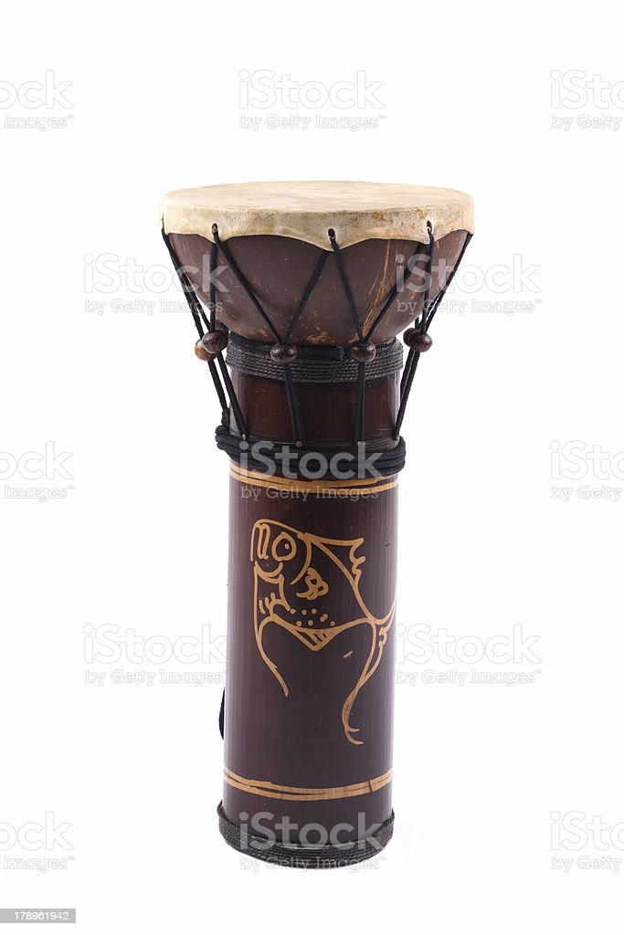 african drum isolated royalty-free stock photo