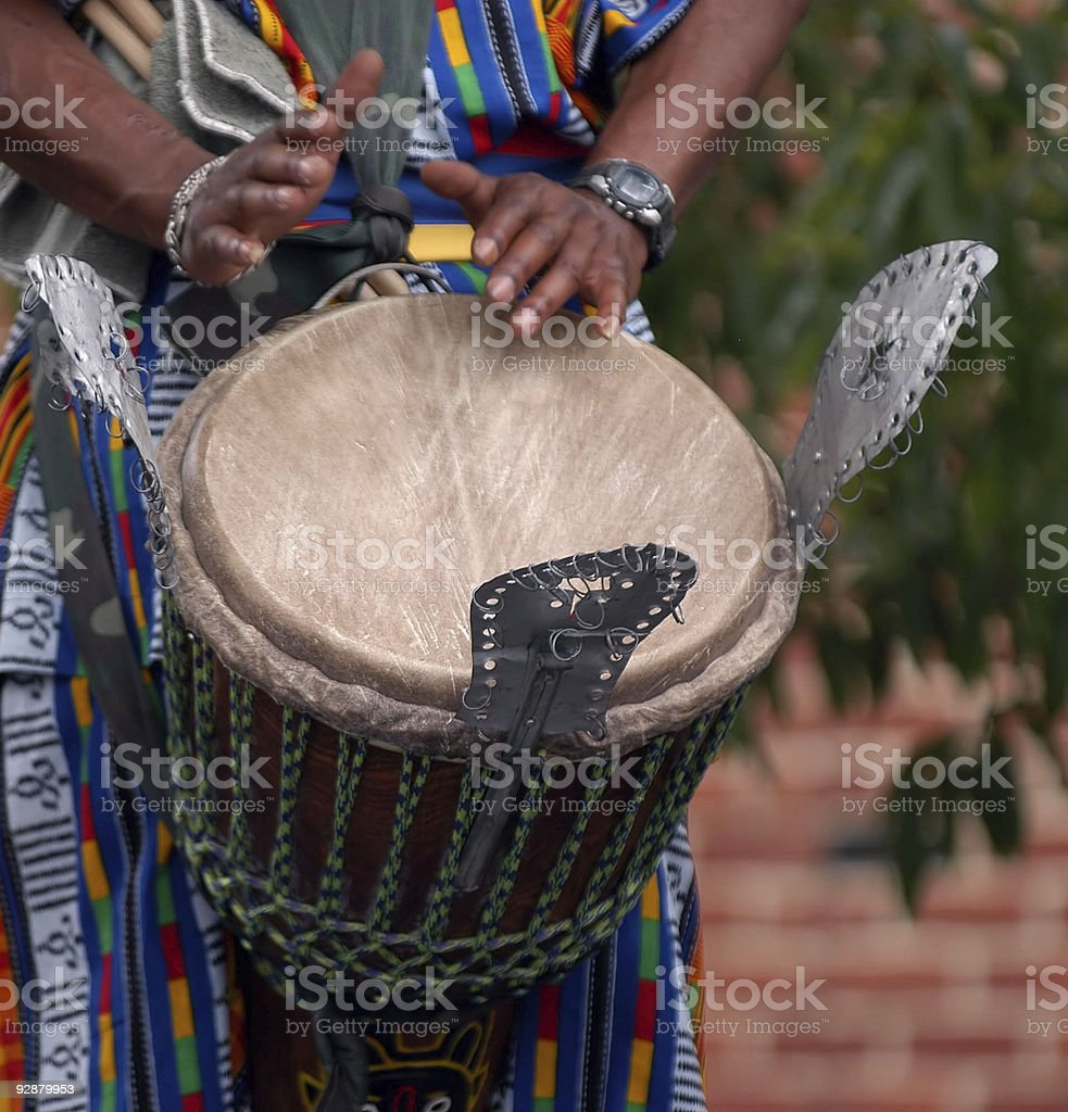 African drummer royalty-free stock photo