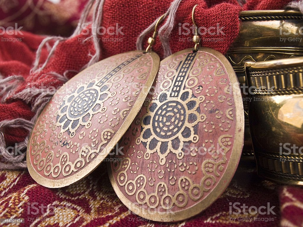 African earrings royalty-free stock photo