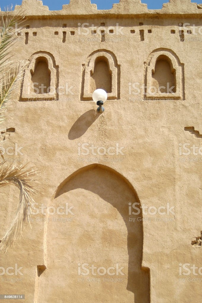 African earth buildings stock photo