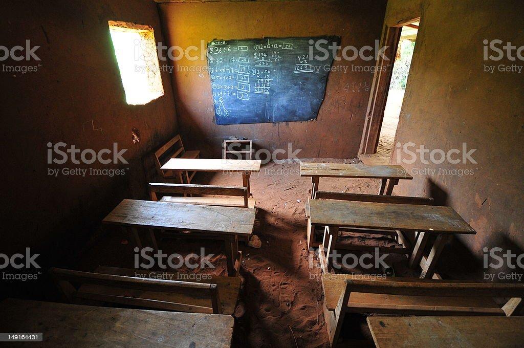 African Elementary School Classroom royalty-free stock photo