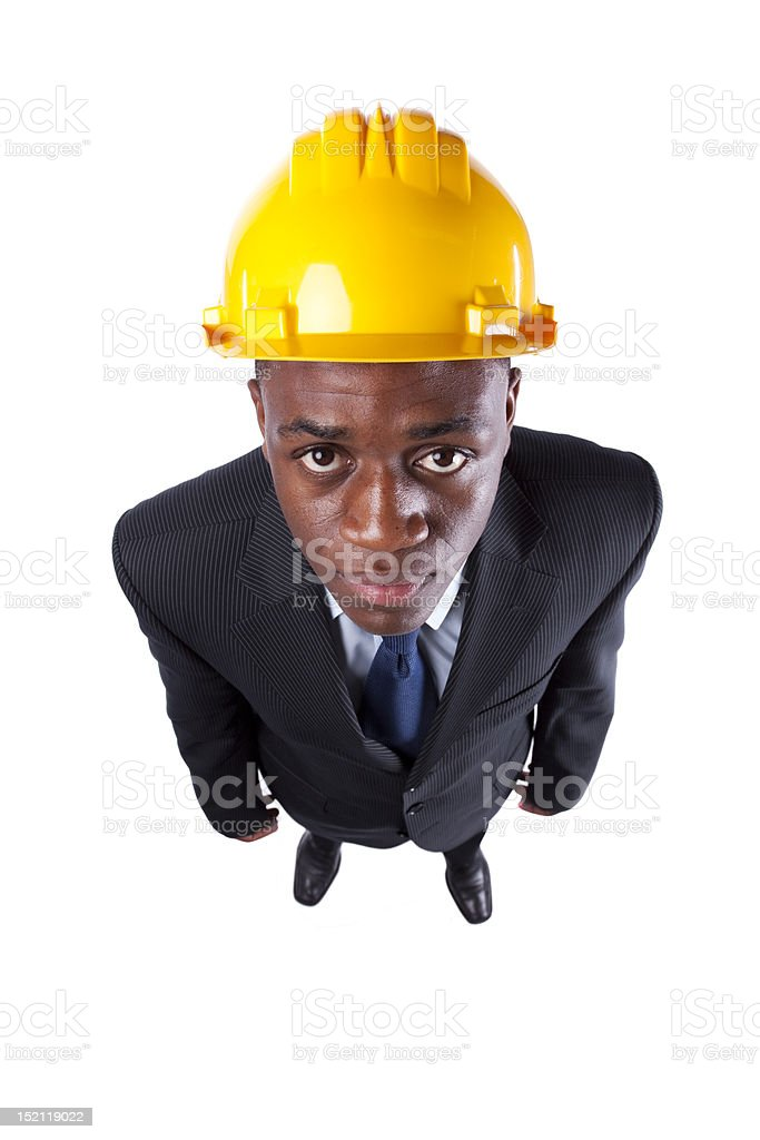 African engineer businessman royalty-free stock photo