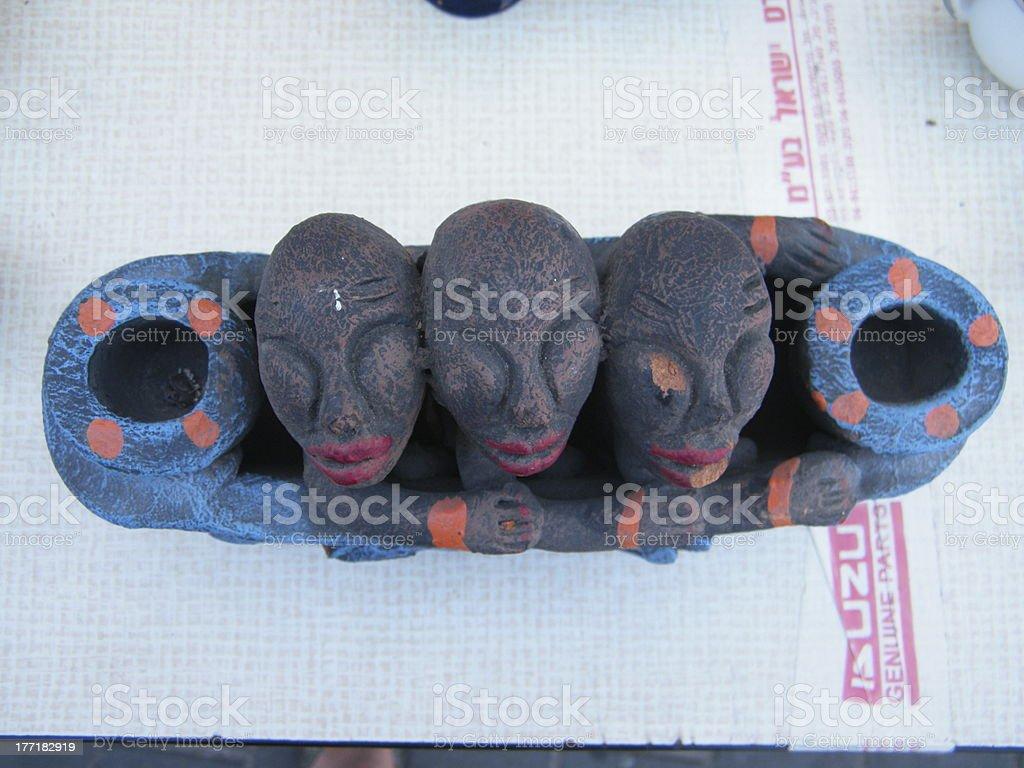 african ethinic docor vase royalty-free stock photo