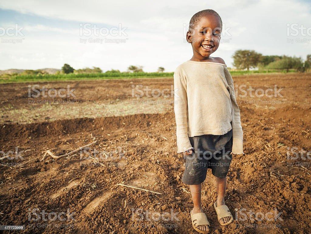 African Farm Girl stock photo