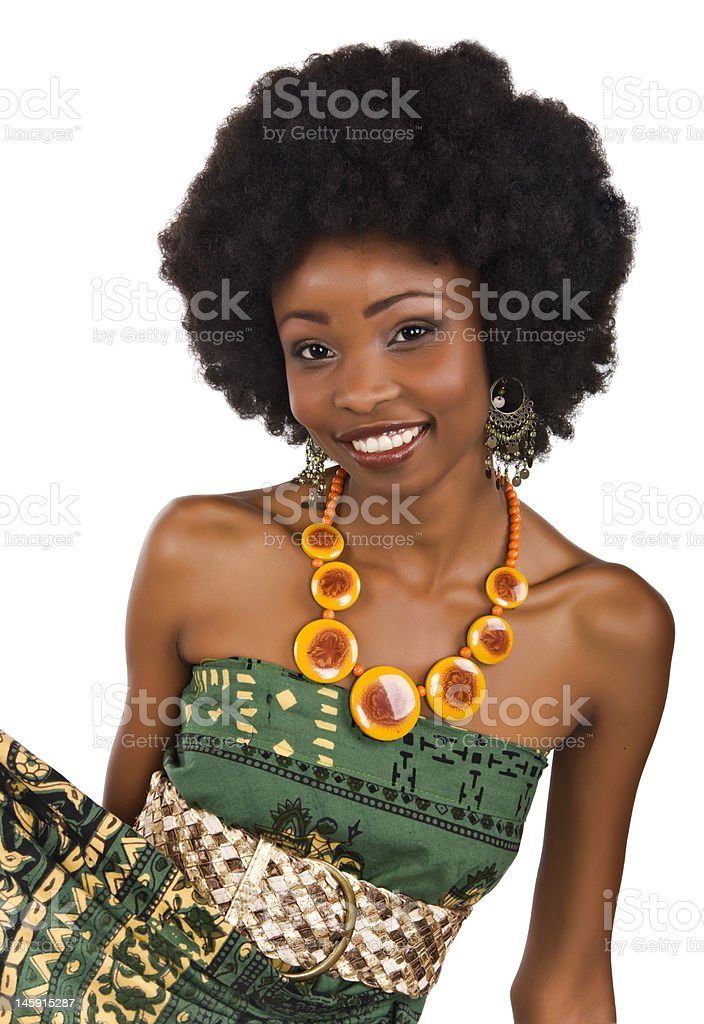 African fashion royalty-free stock photo