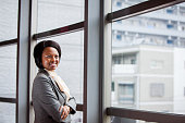 African female CEO smiling